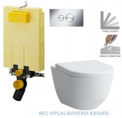 AKCE/SET/VIEGA - SET MONO modul WC čelné ovládanie + ovládacie tlačidlo CHRÓM + WC LAUFEN PRO RIMLESS + SEDADLO (V606732CR LP1)