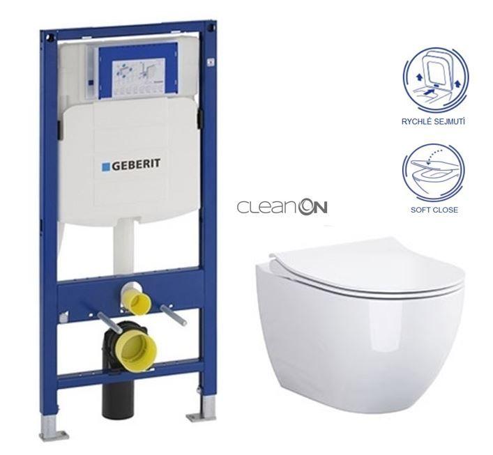 GEBERIT Duofix bez ovládacej dosky + WC CERSANIT ZEN CLEANON + SEDADLO 111.300.00.5 HA1