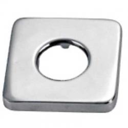 TRES - Štvorcová kovová rozeta vonkajšie rozmery 65x65, vnútorné rozmery O 32, výška 13 mm (913474410)