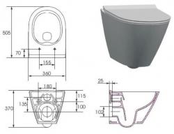 AKCE/SET/VIEGA - Eko PLUS modul do jadra WC čelnej ovládanie SET CHRÓM + ovládacie tlačidlo CHRÓM + WC CERSANIT CITY CLEAN ON + SEDADLO (V622176CR CI1), fotografie 18/10
