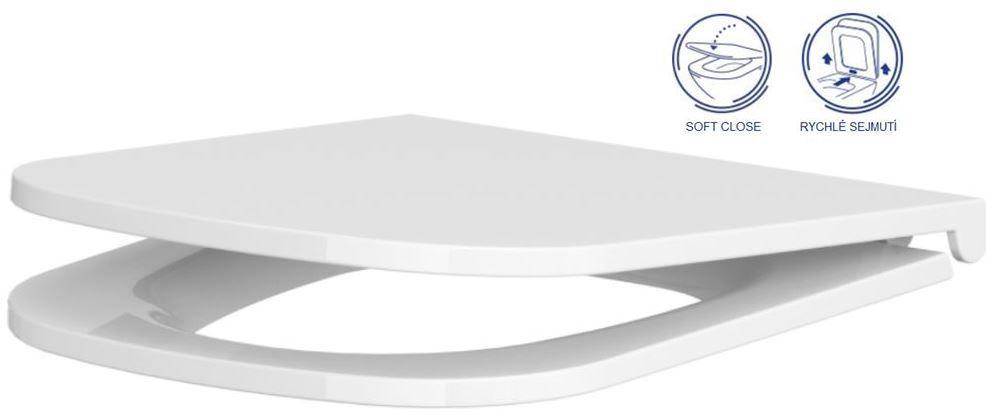GEBERIT DuofixBasic s matným tlačidlom DELTA21 + WC CERSANIT CLEANON CASPIA + SEDADLO (458.103.00.1 21MA CP1)