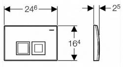 AKCE/SET/GEBERIT - SET Duofix Sada pro závěsné WC 458.103.00.1 + tlačítko DELTA50 CHROM + WC CERSANIT CITY CLEANON + SEDÁTKO (458.103.00.1 50CR CI1), fotografie 16/8