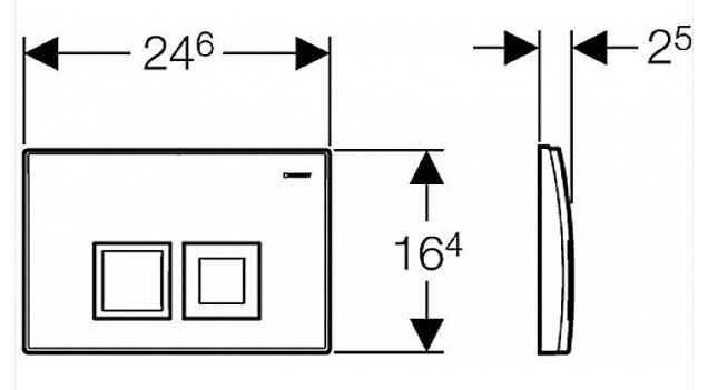 AKCE/SET/GEBERIT - Duofix Sada pro závěsné WC 458.103.00.1 + tlačítko DELTA50 bílé + WC CERSANIT CARINA CLEANON + SEDÁTKO (458.103.00.1 50BI CA1), fotografie 16/8