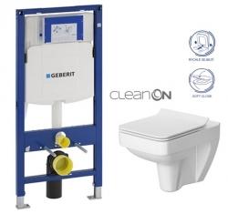 GEBERIT Duofix bez ovládacej dosky + WC CERSANIT CLEANON SPLENDOUR + SEDADLO (111.300.00.5 SP1)
