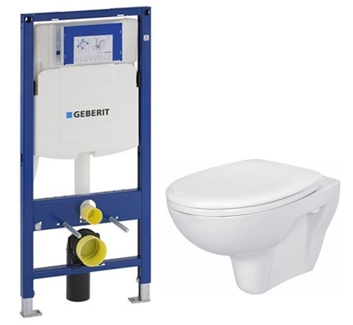 AKCE/SET/GEBERIT - Duofix pro závěsné WC 111.300.00.5 bez ovládaví desky + WC CERSANIT PRESIDENT + SEDÁTKO (111.300.00.5 PR1)