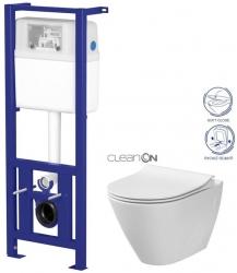 AKCE/SET/CERSANIT - Nádržka LINK + WC CARINA CLEANON + SEDADLO (K97-108 CI1)