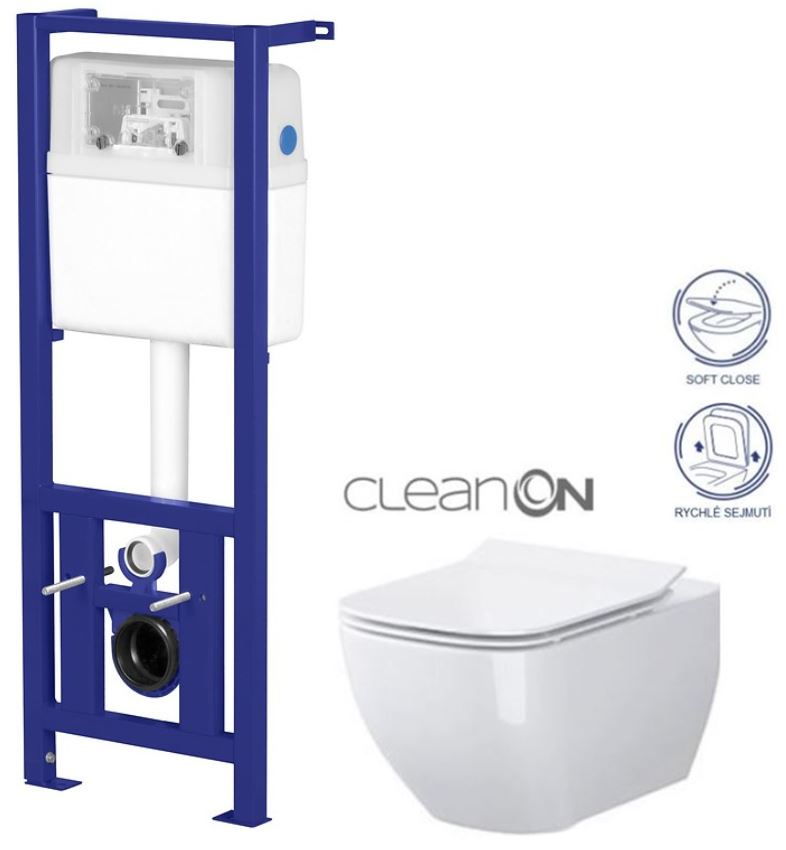 /SET/CERSANIT - Nádržka LINK + WC OPOCZNO METROPOLITAN CLEANON + SEDÁTKO (K97-108 ME1)
