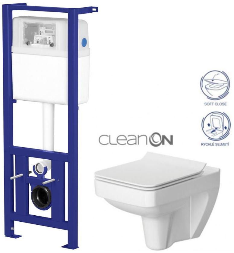 /SET/CERSANIT - Nádržka LINK + WC SPLENDOUR CLEANON + SEDÁTKO (K97-108 SP1)