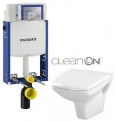AKCE/SET/GEBERIT - SET Kombifix KOMBIFIX ECO pre závesné WC, nádržka UP 320 bez Ovládacie dosky + WC CERSANIT CARINA CLEANON + SEDADLO (110.302.00.5 CA1)