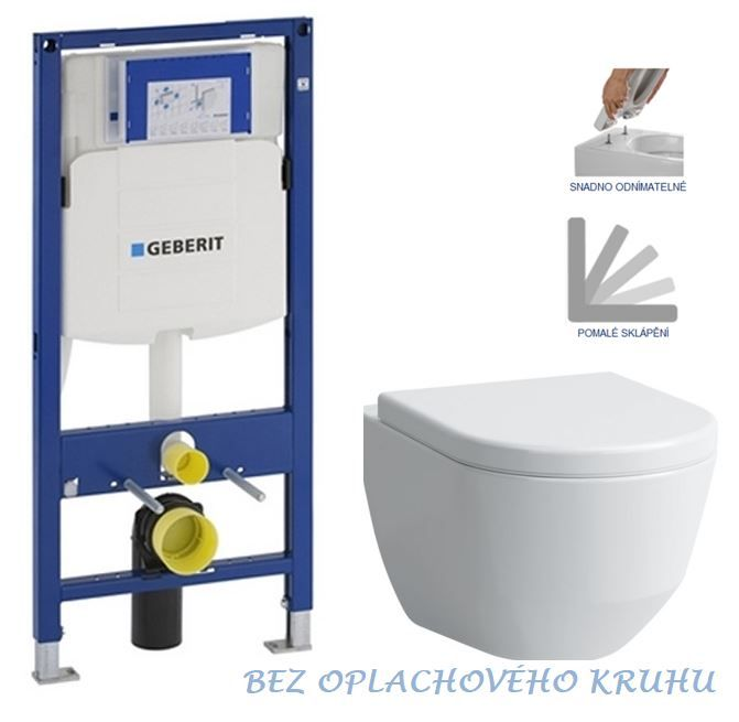 GEBERIT Duofix bez ovládacej dosky + WC LAUFEN PRO RIMLESS + SEDADLO 111.300.00.5 LP1