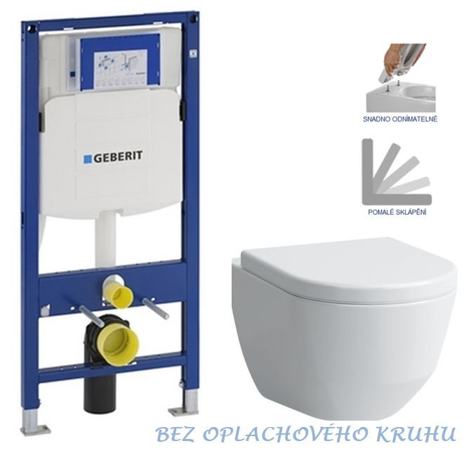 AKCE/SET/GEBERIT - Duofix pro závěsné WC 111.300.00.5 bez ovládací desky + WC LAUFEN PRO RIMLESS + SEDÁTKO (111.300.00.5 LP1)