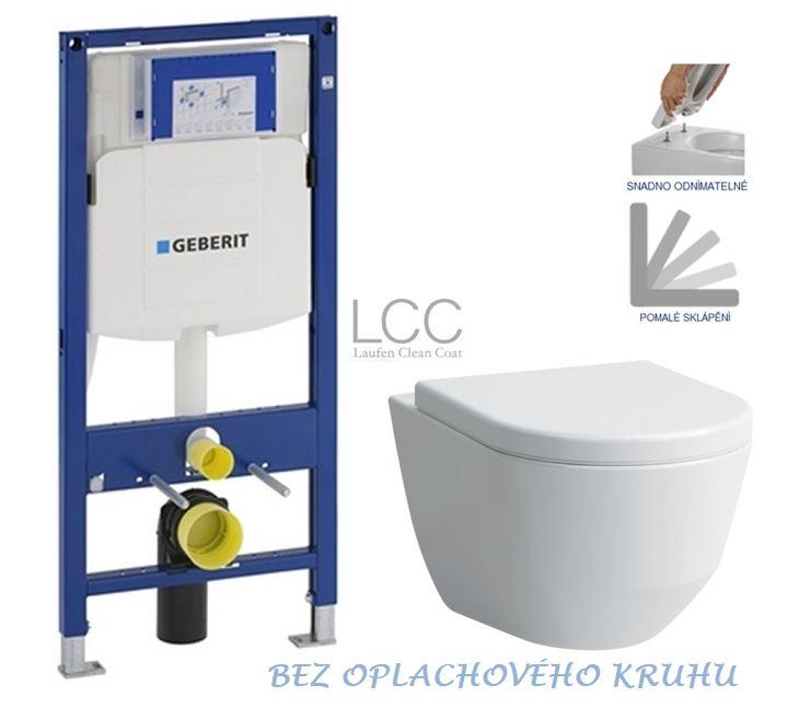AKCE/SET/GEBERIT - Duofix pro závěsné WC 111.300.00.5 bez ovládací desky + WC LAUFEN PRO LCC RIMLESS + SEDÁTKO (111.300.00.5 LP2)