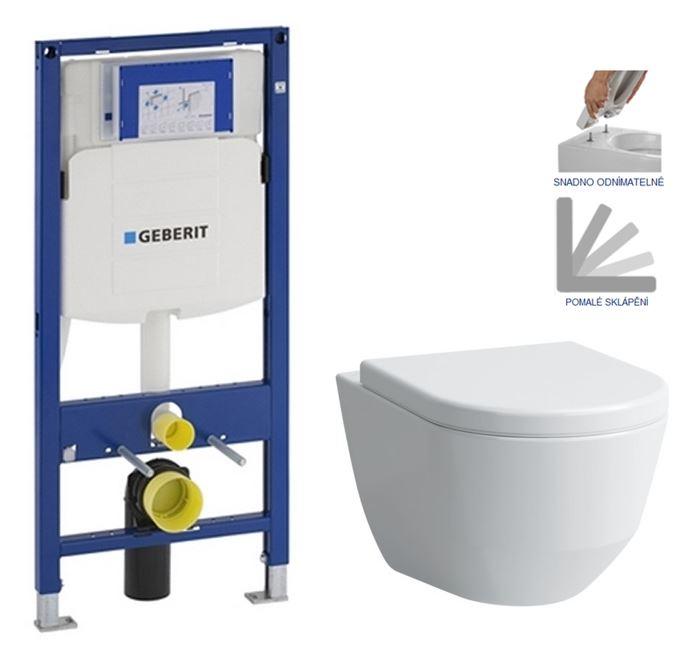 AKCE/SET/GEBERIT - Duofix pro závěsné WC 111.300.00.5 bez ovládací desky + WC LAUFEN PRO + SEDÁTKO (111.300.00.5 LP3)