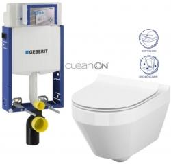 AKCE/SET/GEBERIT - SET Kombifix KOMBIFIX ECO pre závesné WC, nádržka UP 320 bez Ovládacie dosky + WC CERSANIT CREA OVÁL CLEANON + SEDADLO (110.302.00.5 CR1)