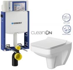 AKCE/SET/GEBERIT - Kombifix KOMBIFIX ECO pro závěsné WC, nádržka UP 320 bez Ovládací desky + WC CERSANIT SPLENDOUR CLEANON + SEDÁTKO (110.302.00.5 SP1)