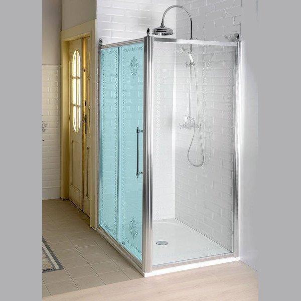 GELCO - ANTIQUE bočná stena 1000mm, číre sklo s dekorom, chróm (GQ5110)