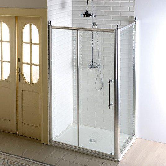 GELCO - Antique obdĺžniková sprchová zástena 1400x1000mm L/P varianta Chrom (GQ4514GQ5110)