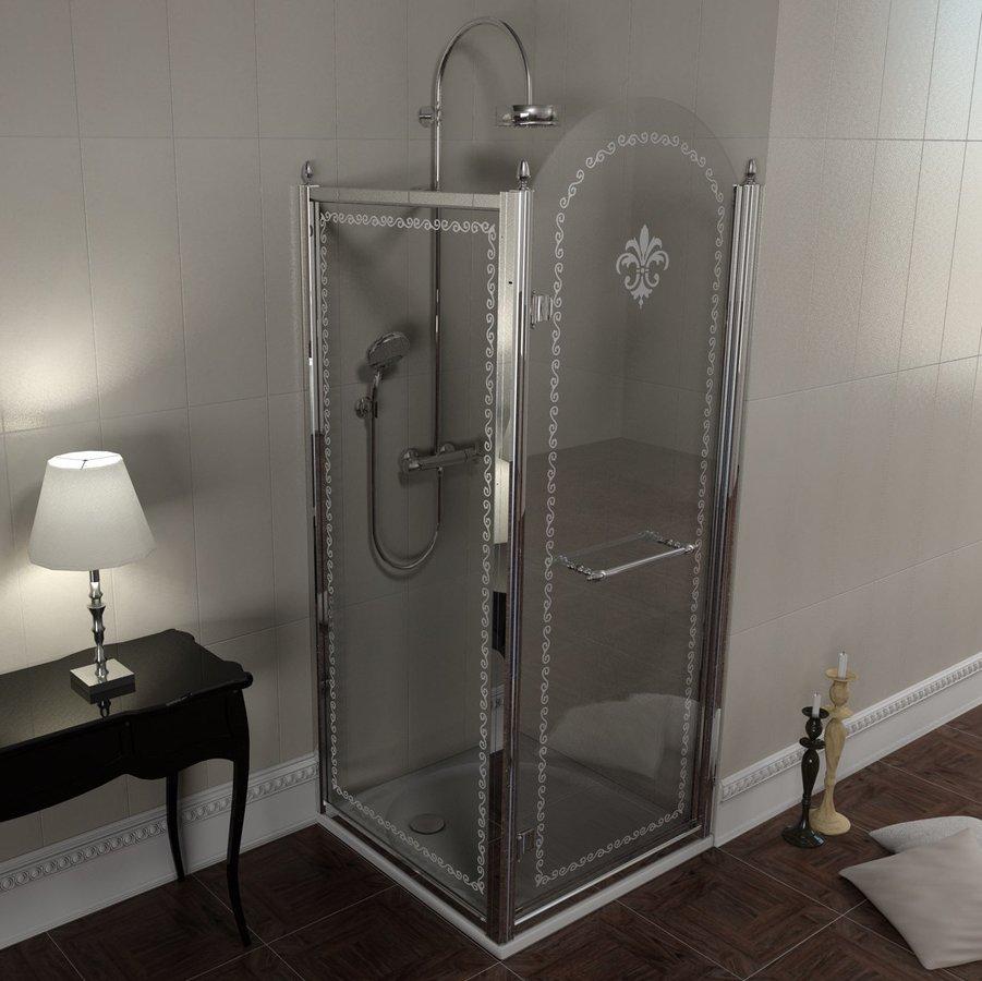 GELCO - Antique obdĺžniková sprchová zástena 800x1000mm L varianta (GQ1580LGQ5110GQV370)