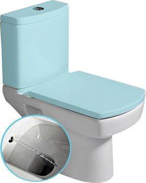 KALE - BASIC wc misa kombi s integrovanou bidetovou sprškou, spodný / zadný odpad (71122340)