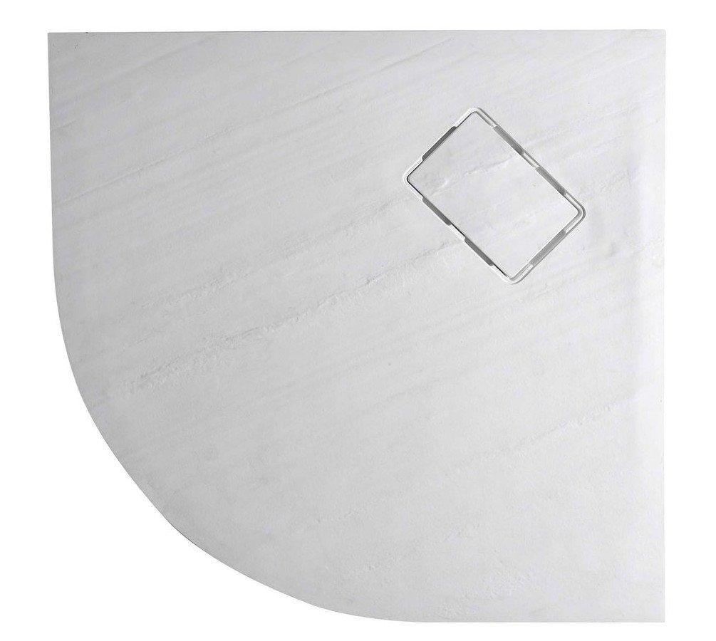 SAPHO - ATIKA sprchová vanička, litaty mramor,štvrťkruh 90x90x3,5cm,R550,biela,dekor kam (AK001)
