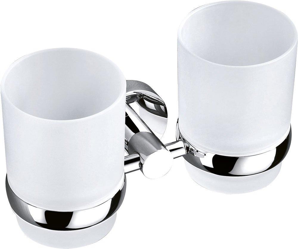 SAPHO - CIRCLE dvojitý držiak pohárov, chróm (1420-05)