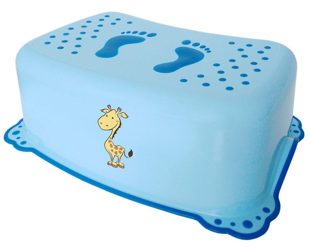 AQUALINE - Detské protišmykové stúpadlo do kúpeľne Žirafa, modrá (2526)