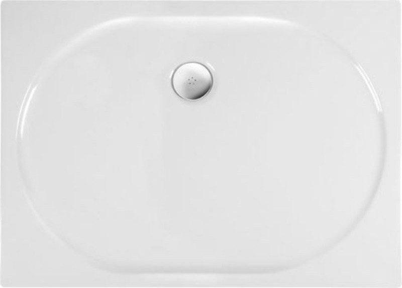POLYSAN - ELIPSA sprchová sprchová vanička akrylátová, obdĺžnik 90x70cm, biela (67111)