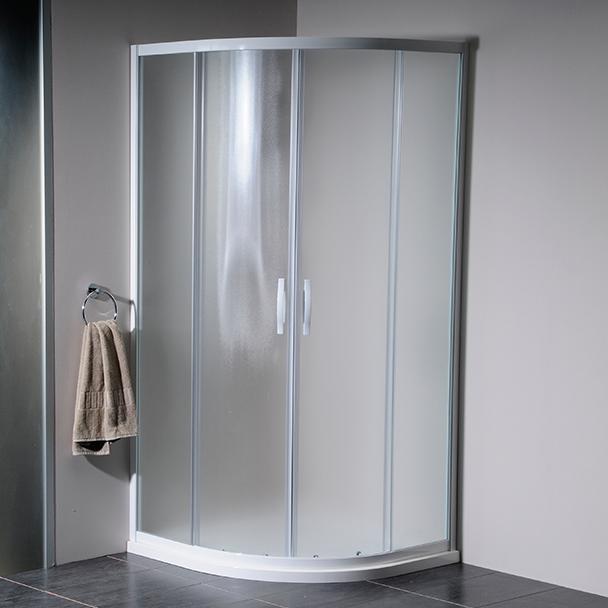 GELCO - ETERNO štvrťkruhová sprchová zástena 900mm, sklo BRICK (GE7590)