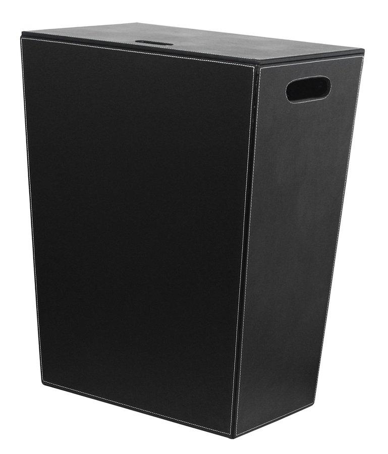 SAPHO - ECO PELLE kôš na prádlo 43x48x26cm, čierna (2462BK)