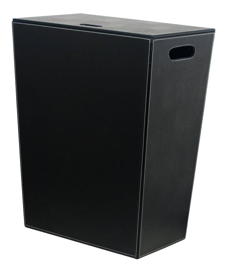 SAPHO - ECO PELLE kôš na prádlo 47x60x30cm, čierna (2463BK)