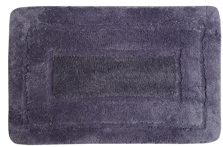 AQUALINE - Kúpeľňová predložka, 50x80cm, 100% acryl, protišmyk, tmavo fialová (KP01F)