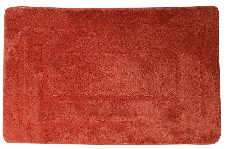 AQUALINE - Kúpeľňová predložka, 50x80cm, 100% acryl, protišmyk, červená (KP03C)