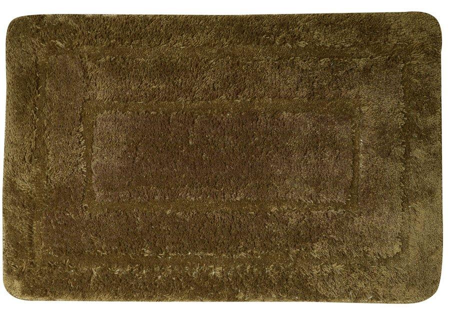 AQUALINE - Kúpeľňová predložka, 50x80cm, 100% acryl, protišmyk, tmavo hnedá (KP04H)