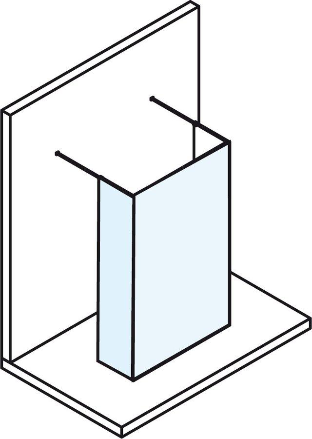 POLYSAN - MODULAR SHOWER rozmery mm: A882 B=C+D C380 D<500 H2000 (MS110B)