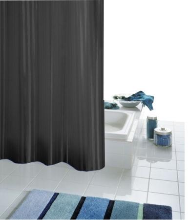 RIDDER - SATIN záves 180x200cm, textil, čierna (47850)