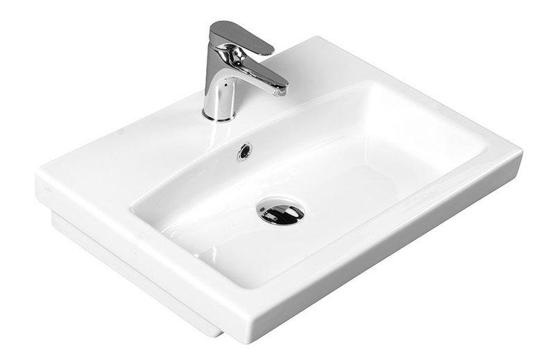 GSI - SET keramické umývadlo+ stojánkova umývadlová batéria bez výpuste (SET758211)