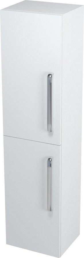 SAPHO - Skrinka vysoká s košom 35x140x30cm, biela, ľavá (62030L)