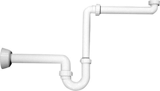 Omp Tea - Umývadlový sifón šetriaci miesto, 1'1/4-40mm, biely (2126.054.6)