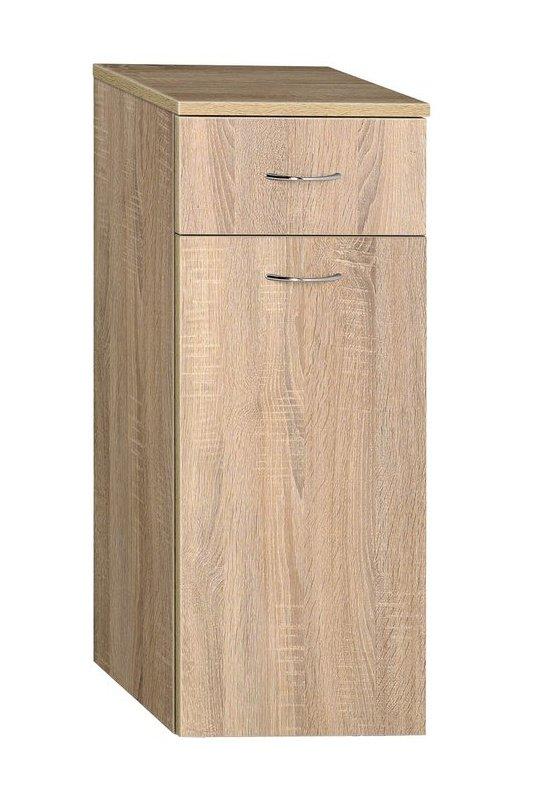 AQUALINE - ZOJA/KERAMIA FRESH skrinka spodná s košom 35x78x29cm,dub platin (50263)