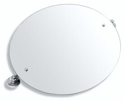 NOVASERVIS - Zrkadlo s výklopným držiakom ovál 60x50 cm  Metalia 1 chróm (6117,0)