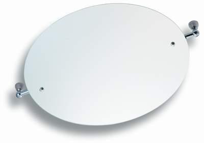 NOVASERVIS - Zrkadlo s výklopným držiakom guľaté 50 cm  Metalia 3 chróm (6313,0)