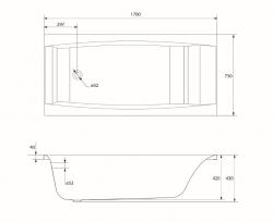 CERSANIT - VAŇA VIRGO 170X75 cm (S301-045), fotografie 14/8