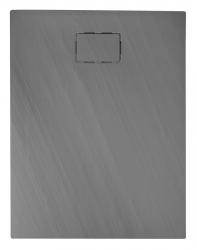 SAPHO - ATIKA sprchová vanička, litý mramor, obdĺžnik 120x80x3,5cm, šedá, dekor kameň (AK024)