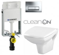 AKCE/SET/GEBERIT - SET GEBERIT - KOMBIFIXBasic vrátane ovládacieho tlačidla DELTA 51 CR pre závesné WC CARINA CLEAN ON - SEDADLO (110.100.00.1 51CR CA1)