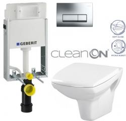 AKCE/SET/GEBERIT - SET GEBERIT - KOMBIFIXBasic včetně ovládacího tlačítka DELTA 51 CR pro závěsné WC CARINA CLEAN ON + SEDÁTKO (110.100.00.1 51CR CA2)