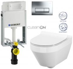AKCE/SET/GEBERIT - GEBERIT - KOMBIFIXBasic včetně ovládacího tlačítka DELTA 51 CR pro závěsné WC CREA OVÁL CLEAN ON + SEDÁTKO (110.100.00.1 51CR CR1)