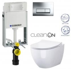 AKCE/SET/GEBERIT - SET GEBERIT - KOMBIFIXBasic vrátane ovládacieho tlačidla DELTA 51 CR pre závesné WC OPOCZNO URBAN HARMONY CLEAN ON + SEDADLO (110.100.00.1 51CR HA1)