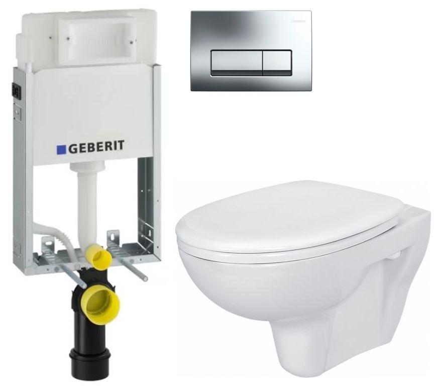/SET/GEBERIT - GEBERIT - KOMBIFIXBasic včetně ovládacího tlačítka DELTA 51 CR pro závěsné WC PRESIDENT + SEDÁTKO (110.100.00.1 51CR PR1)