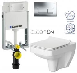AKCE/SET/GEBERIT - SET GEBERIT - KOMBIFIXBasic včetně ovládacího tlačítka DELTA 51 CR pro závěsné WC SPLENDOUR CLEAN ON + SEDÁTKO (110.100.00.1 51CR SP1)
