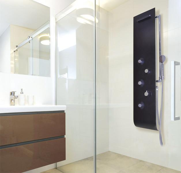 Aquatek - Kuba Hydromasážní sprchový panel, baterie termostatická (Kuba-25)